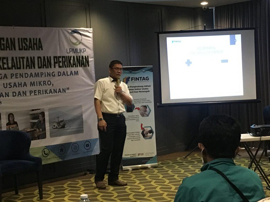 CEO Fintag Tumbur Pardede pembicara di Workshop LPMUKP